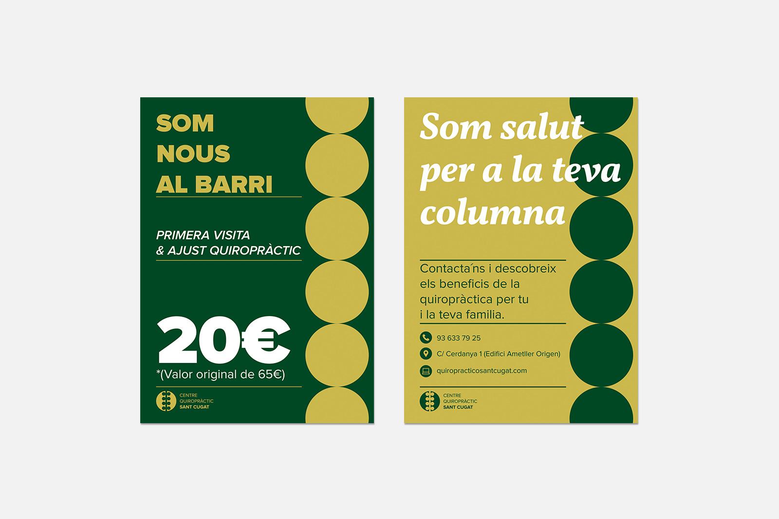 Flyer Centro Quiropráctico Sant Cugat